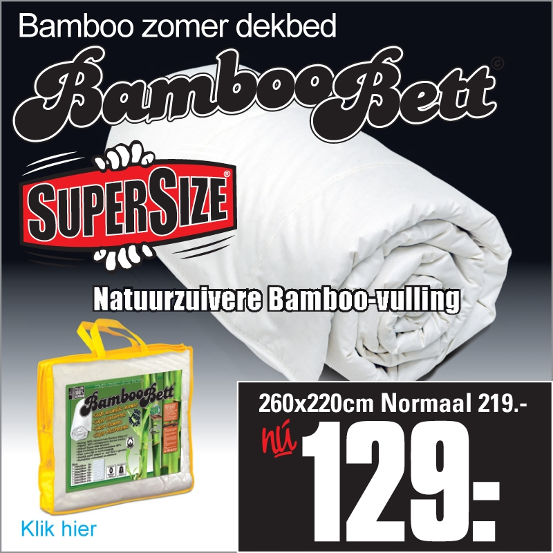 Zomerdekbed Bamboe XL