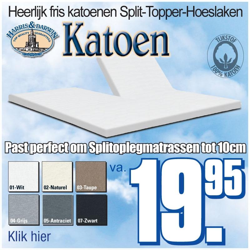 Koele Katoenen Split-Topper Hoeslakens