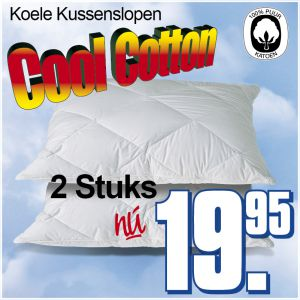 2 Cool Cotton Kussenslopen