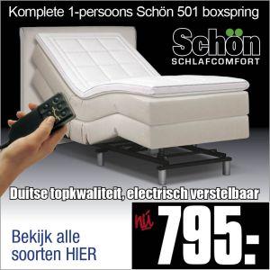 Komplete Elektrische Boxspring 90x200cm Schön 501