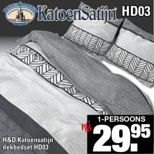 Katoen Satijn Dekbedovertrekset HD03