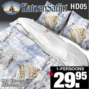 Katoen Satijn Dekbedovertrekset HD05