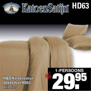 Katoen Satijn Dekbedovertrekset HD63