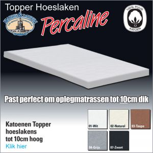 Percaline MatrasTopper Hoeslakens