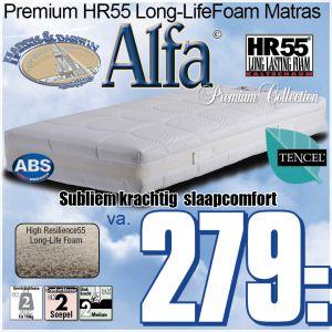 ALFA Micro-Pocketveren Matras de Luxe