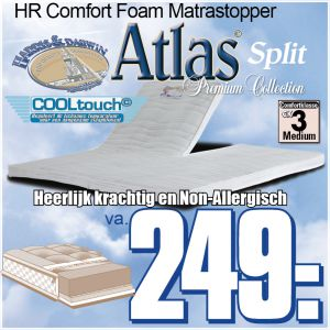 Atlas Split TopperMatras HR40