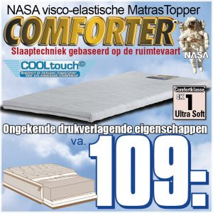 COMFORTER Traagschuim Matras Topper