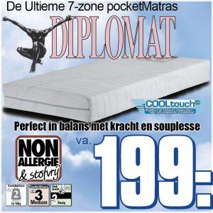 7-Zone Pocketveren Matras Diplomat