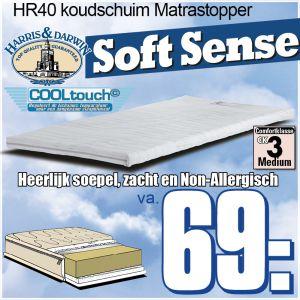 TopperMatras Soft Sence HR-Koudschuim