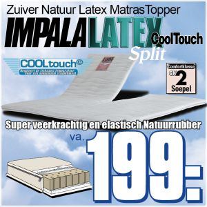 IMPALA LATEX CoolTouch SPLIT Topper
