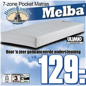 Melba 7-Zone Pocketveren Matras