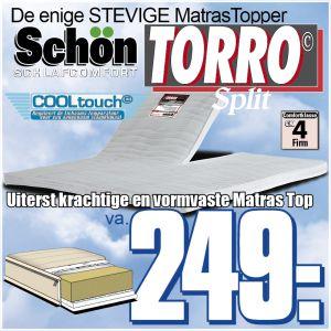 TORRO Stevige SPLIT TopperMatras