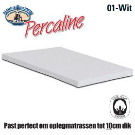 Topper Hoeslaken Katoen Wit 160x200cm